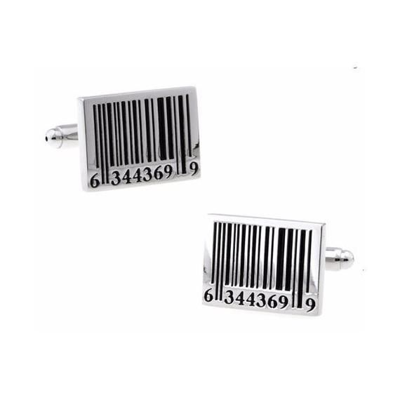 Barcord Silver Tone CuffLinks, Best Gift For Dad – Groomsmen Cufflinks – Groomsmen Gifts – Gifts for – Products