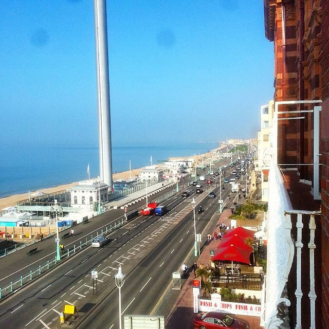 The view from my bedroom at the Hilton Metropole Brighton #brighton #brightonbeach #beach #hotel #balcony #brightoni360 #britishairwaysi360 #sea #sand #sun #sunny #metropole #hiltonmetropole #landscape #pebbles #pebblebeach #montereylocals #pebblebeachlocals - posted by James Bell https://www.instagram.com/jamesebell - See more of Pebble Beach at http://pebblebeachlocals.com/