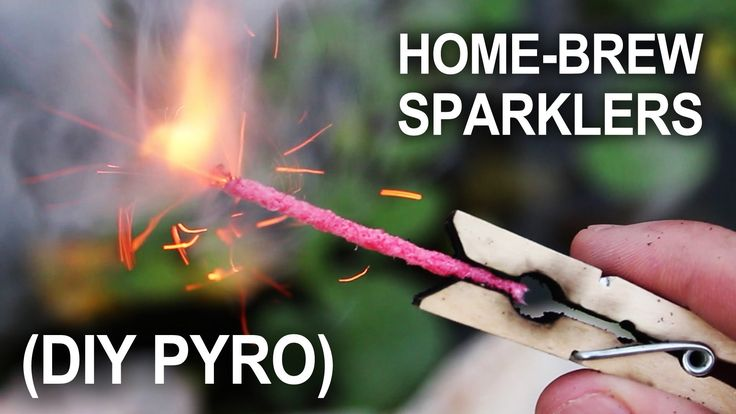 Making Sparklers - (Improvised Hand-Held Fireworks) In this project, we're making hand-held sparklers for the 4th of July.  When it's time to celebrate with fireworks, you could just buy them.  Or you could improvise, and make your own.