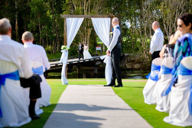 Pelican Waters Golf Club is a magical location to have lakeside ceremony.  #pelicanwatersweddings #pelicanwatersgolfclub #Caloundra #ceremony