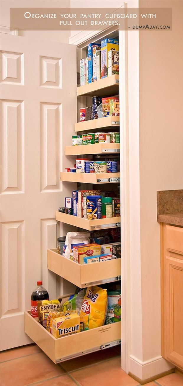 Pantry with pull out drawers...