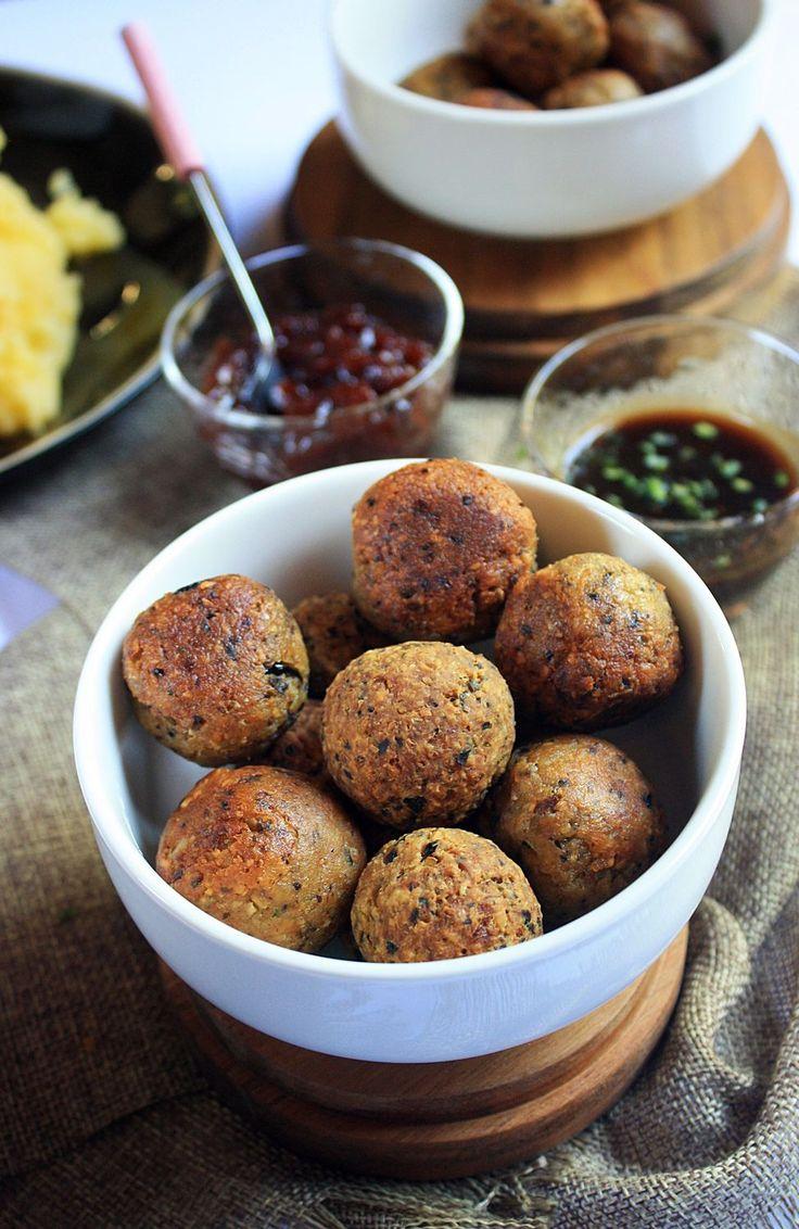 Tempeh Vegan Swedish Meatballs