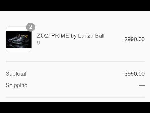 Buying the Lonzo Ball Big Baller Brand Sneaker  #BigBallerBrand