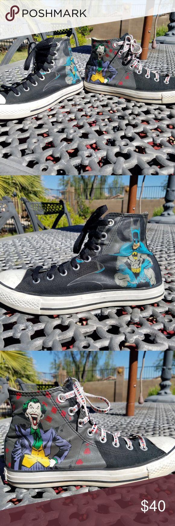 Converse DC Comics Batman/ Joker size 8M/ 10W Nice condition Converse Shoes Sneakers