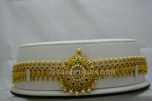 Exquisite Antique 2 in 1  Bridal Wear Waist Belt / Long Haar  A Beautifull Jewel For A Special Bride