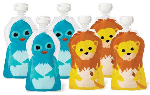 Squooshi Reusable Pouch 70 mls - Fun Animals Designs - Dot NZ Shop