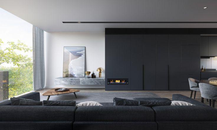 Moody Interior #warmth #wood #timber #monochrome #texture #openplan