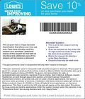 Three (3) Lowes 10% off---PRINTABLE (expires 6/12/14) *** - http://couponpinners.com/coupons/three-3-lowes-10-off-printable-expires-61214/