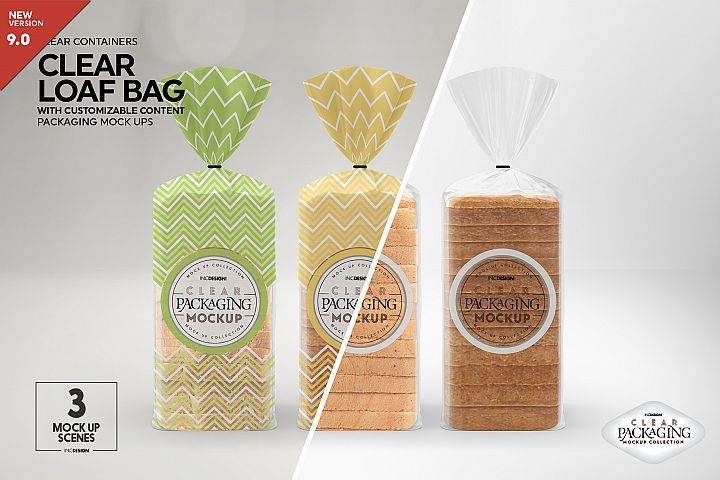 Download Clear Loaf Bread Bag Packaging Mockup 270574 Branding Design Bundles Packaging Mockup Free Packaging Mockup Design Mockup Free