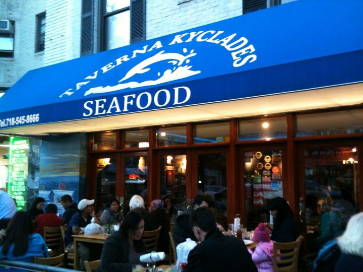 Taverna Kyclades in Astoria, NY Amazing Greek Seafood - 20 minute wait at lunch in Astoria....on a Wedneday