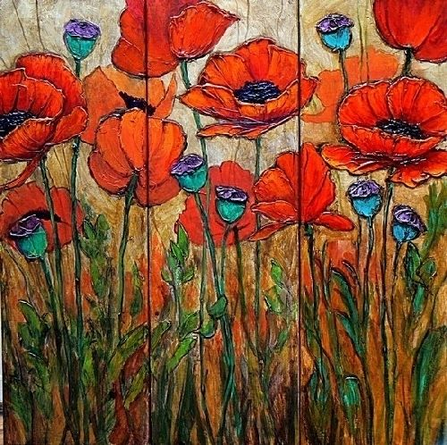 185 best artpoppies images on pinterest poppies flower art and poppy garden 4 by carol nelson acrylic 24 x 24 poppies paintinggarden paintingpoppy flower mightylinksfo Image collections