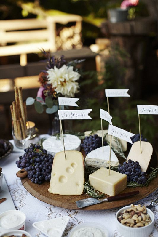 Cheese platter appetizer
