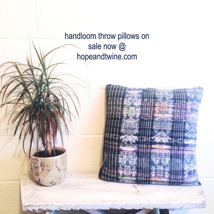 Hand loom , Fair Trade throw pillows at hopeandtwine.com