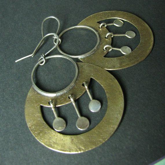 Grote gemengde metalen Earrings Egyptisch geïnspireerd