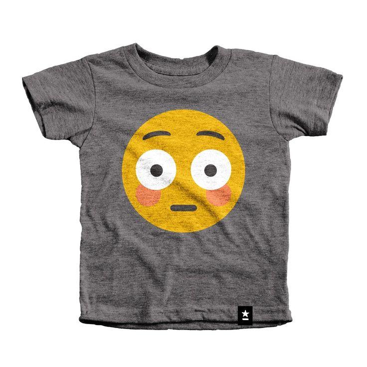 Blush Emoji T-shirt - Kids
