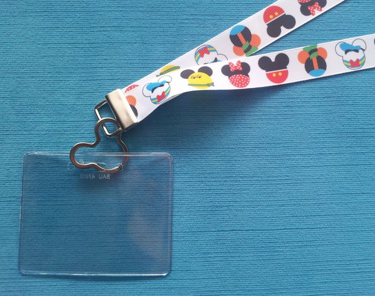 Lanyard - for Disney KTTW Card - Disney Cruise - Fab Five Mickey Heads - Non-scratchy - Child or Adult