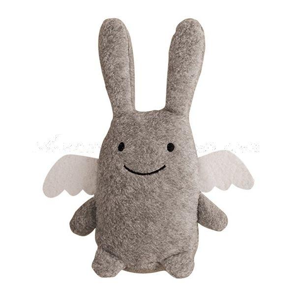 Doudou Ange lapin gris - #Trousselier: un look moderne avec une texture tendre, une peluche originale pour unbe composition de naissance pour fille ou garçon. http://www.avenuedesanges.com/fr/trousselier-ange-lapin/3816-doudou-ange-lapin-gris-trousselier-3457011081028.html