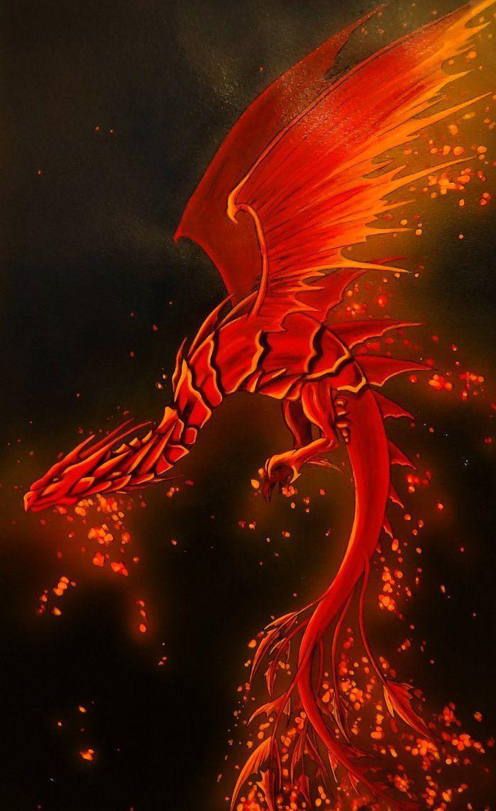 Un dragon rouge ça me change!