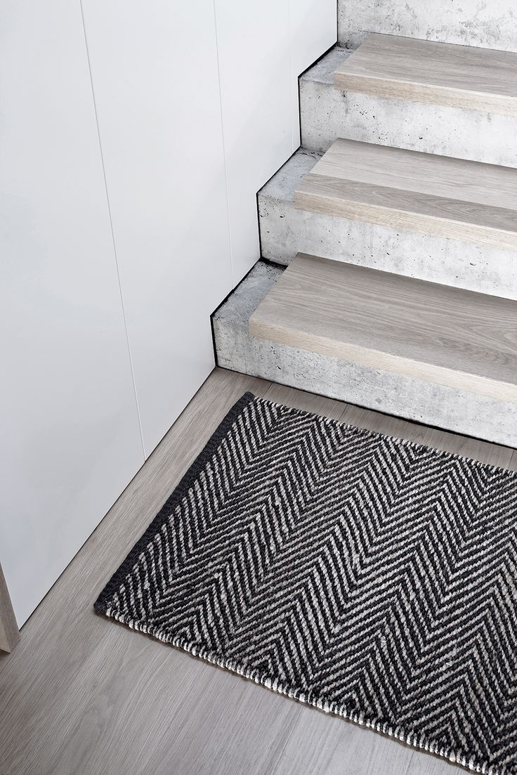 Rubber mats for stairs - Wood Staircase Wood Stair Treads Concrete Stairs Armadillo Entrance Mats Interior Detailing Deck Balustrades Rustic Interiors