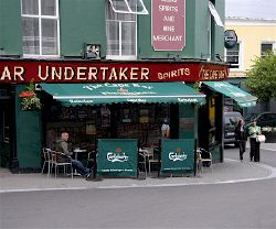 Pub in Wexford town. Ireland.  I'VE BEEN THERE!  PUB AND UNDERTAKER