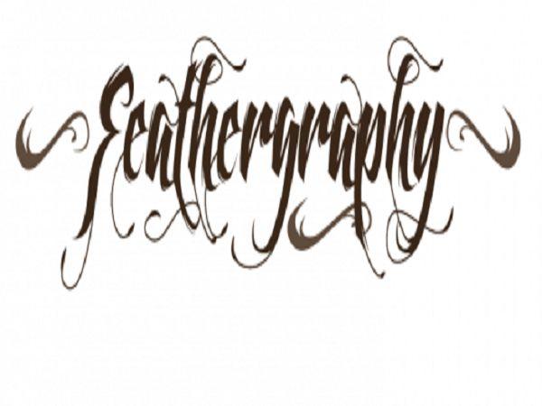 Cool Tattoo Fonts: Feathergraphy Decoration Font Tattoo By Mans Greback ~ tattooeve.com Tattoo Ideas Inspiration