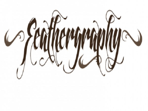Cool Tattoo Fonts: Feathergraphy Decoration Font Tattoo By Mans Greback ~ tattooeve.com Tattoo Ideas Inspiration