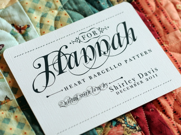 306 best Quilt labels images on Pinterest | Tags, Crafts and Modern : iron on quilt labels - Adamdwight.com