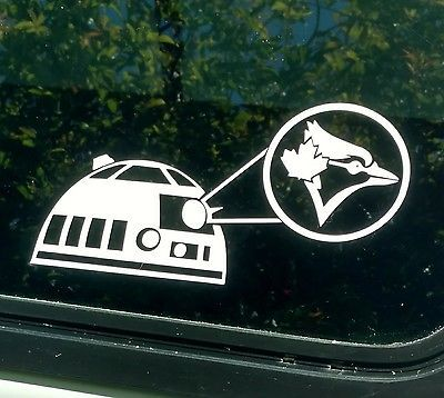 Toronto blue jays r2d2 decalstar wars die cut vinyl stickerwindow