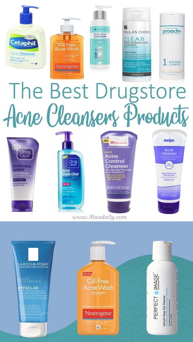 4 Best Acne Cleansers Drugstore Products Acne Cleansers Best