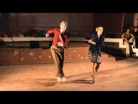 Dax Hock and Sarah Breck. My absolute favorite lindy routine I have ever seen. How freakin fun.