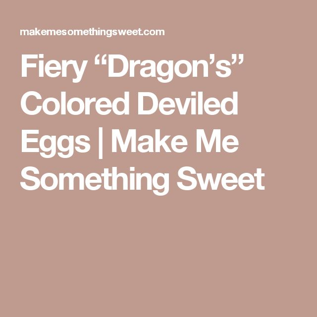 """Fiery """"Dragon's"""" Colored Deviled Eggs 