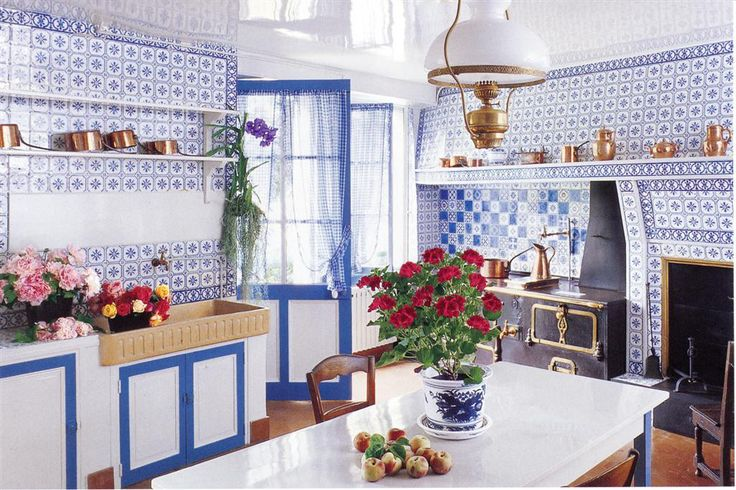 Claude Monet's Kitchen- Giverny, France