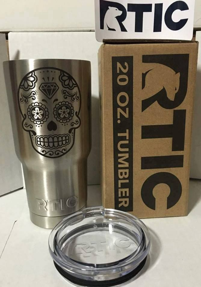 CLICK HERE TO BUY (1) Single 20oz Ounce RTIC® Stainless Steel Tumbler Laser Engraved To