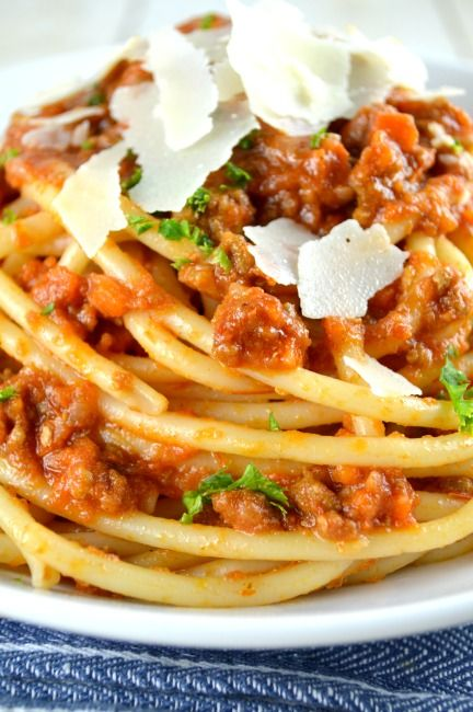 Authentic Ragu Bolognese--This recipe is from Marcella Hazan and is absolutely the most amazingly delicious Bolognese I've ever tried. This is a Must try recipe! It's so so much better than any other Bolognese!!!