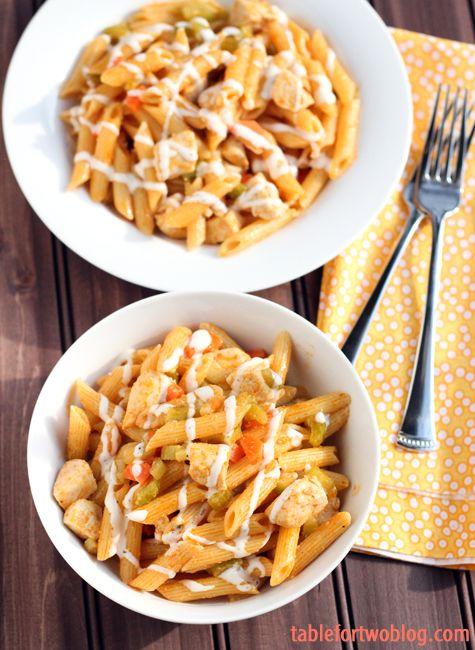 Buffalo ranch chicken pasta - kind of like having buffalo wings but in pasta form!