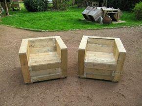 Mueblesdepalets.net: Set de muebles para el jardín con palets y bobina de madera