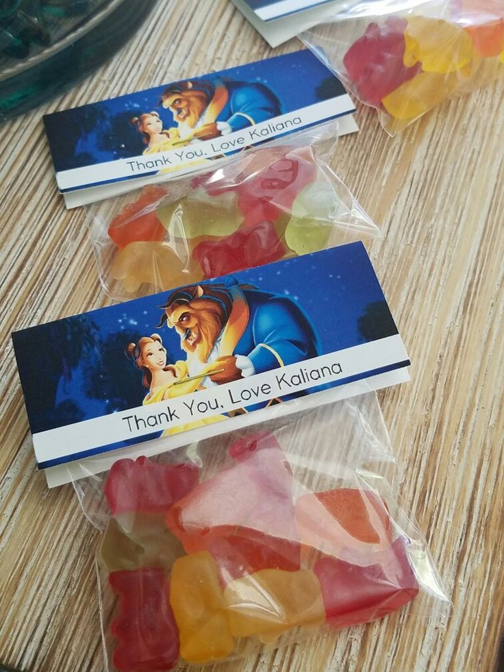 beauty and the beast candy bags