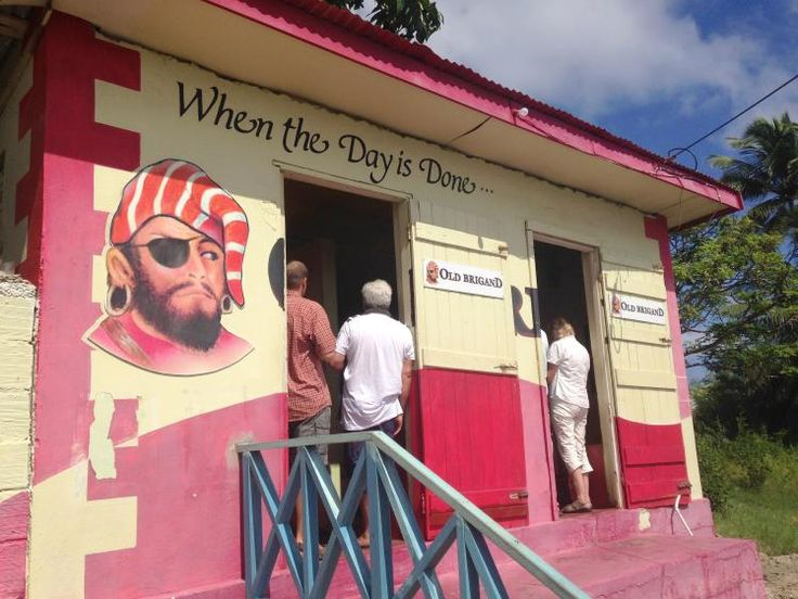 Barbadian rum shop run by the aunt champion UK boxer Nigel Benn. Image by Sarah Reid / Lonely Planet