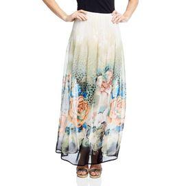 Nevada®/MD Madrid Printed Chiffon Pleated Maxi Skirt - Sears