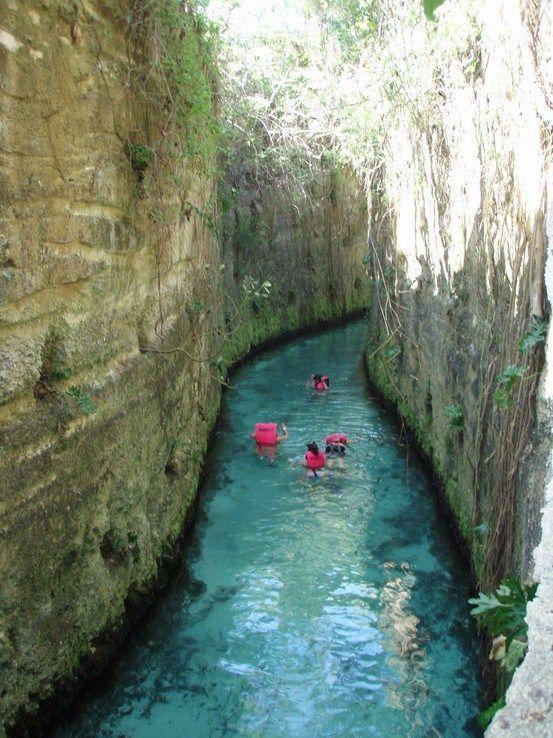 Cancun. Xcaret's underground rivers