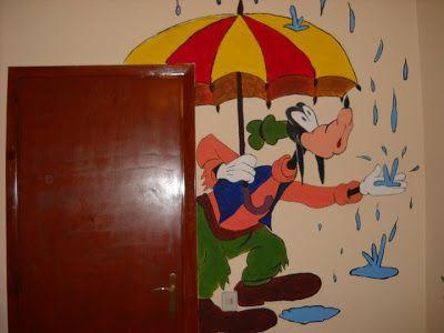 Βάλε χρώμα: Ζωγραφία σε παιδικό δωμάτιο με θέμα τον Goofy