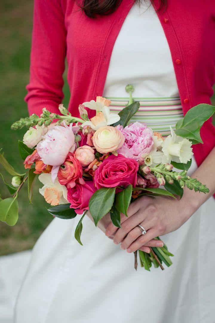 Colorful Preppy Rustic Wedding Inspiration