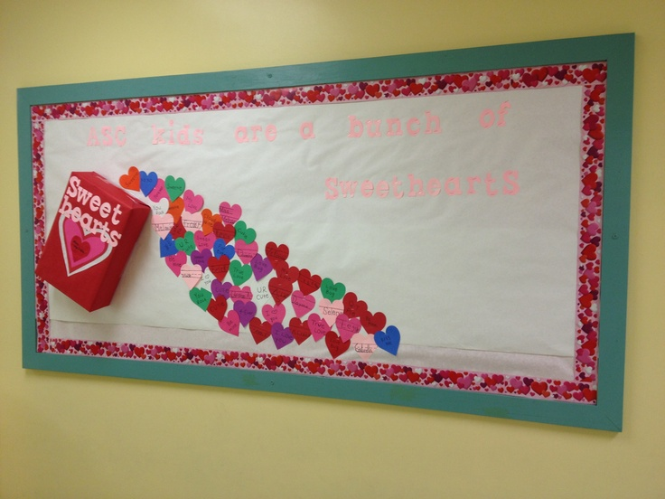 My Valentine's day bulletin board!  My favorite holiday :)