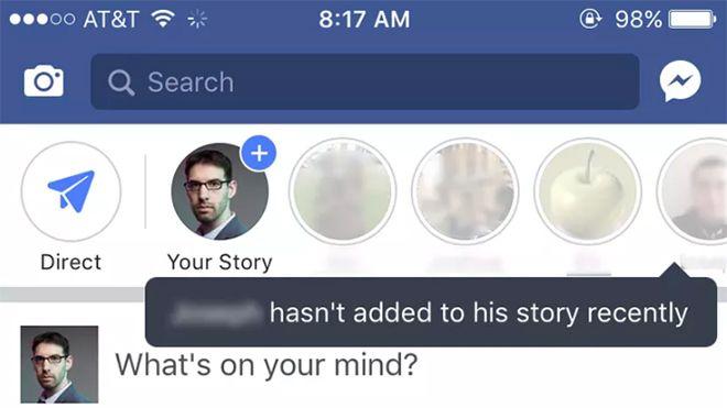 Facebook'un kısa bir süre önce kullanıma sunduğu hikayeler özelliği hazırlık sürecinde beklenen ilgiyi görmüyor. Bu durum da sosyal medya devinin farklı yollar denemesine neden oluyor.              ...   http://havari.co/facebook-kullanicilari-hikayeler-ozelligini-kullanmaya-tesvik-etmeye-calisiyor/