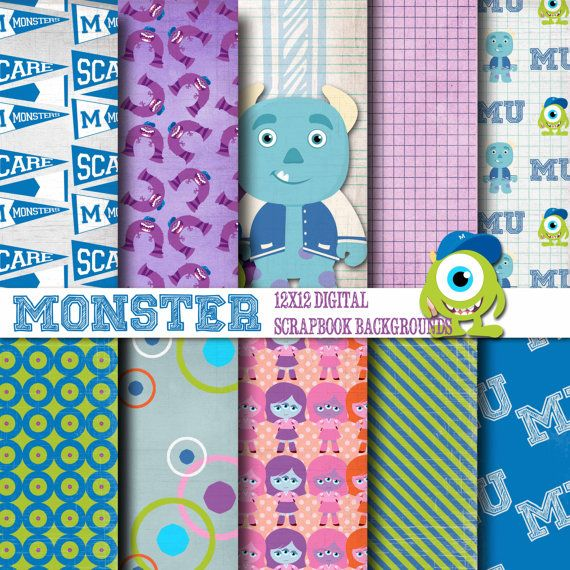 Hey, I found this really awesome Etsy listing at http://www.etsy.com/listing/156506686/monster-school-12x12-digital-paper
