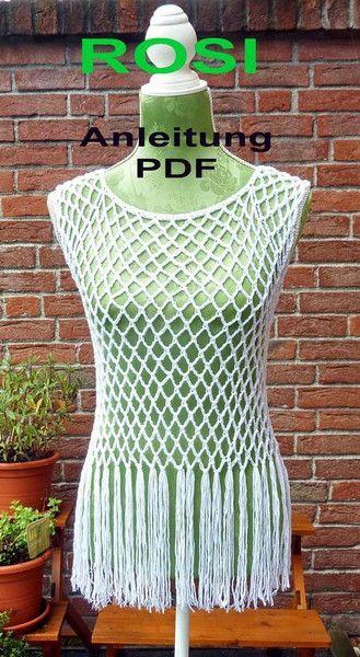 anleitung f r ein netzshirt tunika rosi ohne naht von. Black Bedroom Furniture Sets. Home Design Ideas