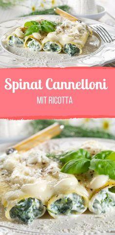 Italienische Cannelloni mit Spinat-Ricotta-Füllung