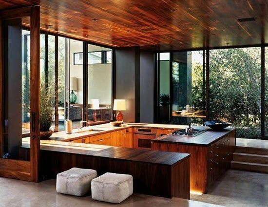 Interesting. Lovely design. I don't know if I've ever seen the kitchen on the lower level. How are all the guests supposed to congregate in the kitchen?