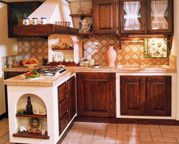 Cucina in muratura rustica n.02