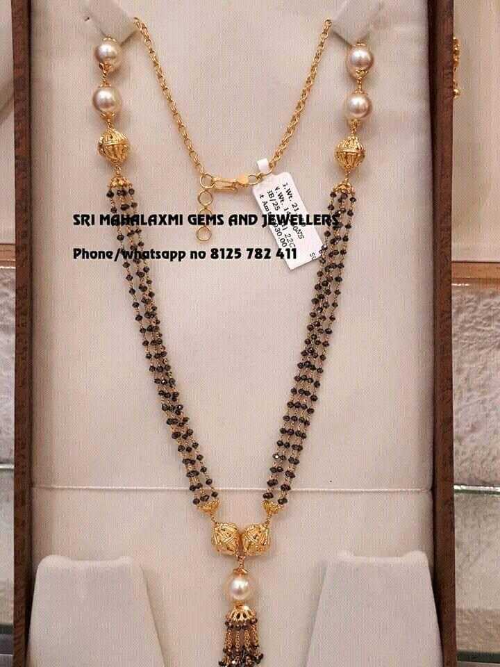 db033c2892e02 Mangalsutra | Jewelery | Gold mangalsutra, Jewelry, Black diamond chain